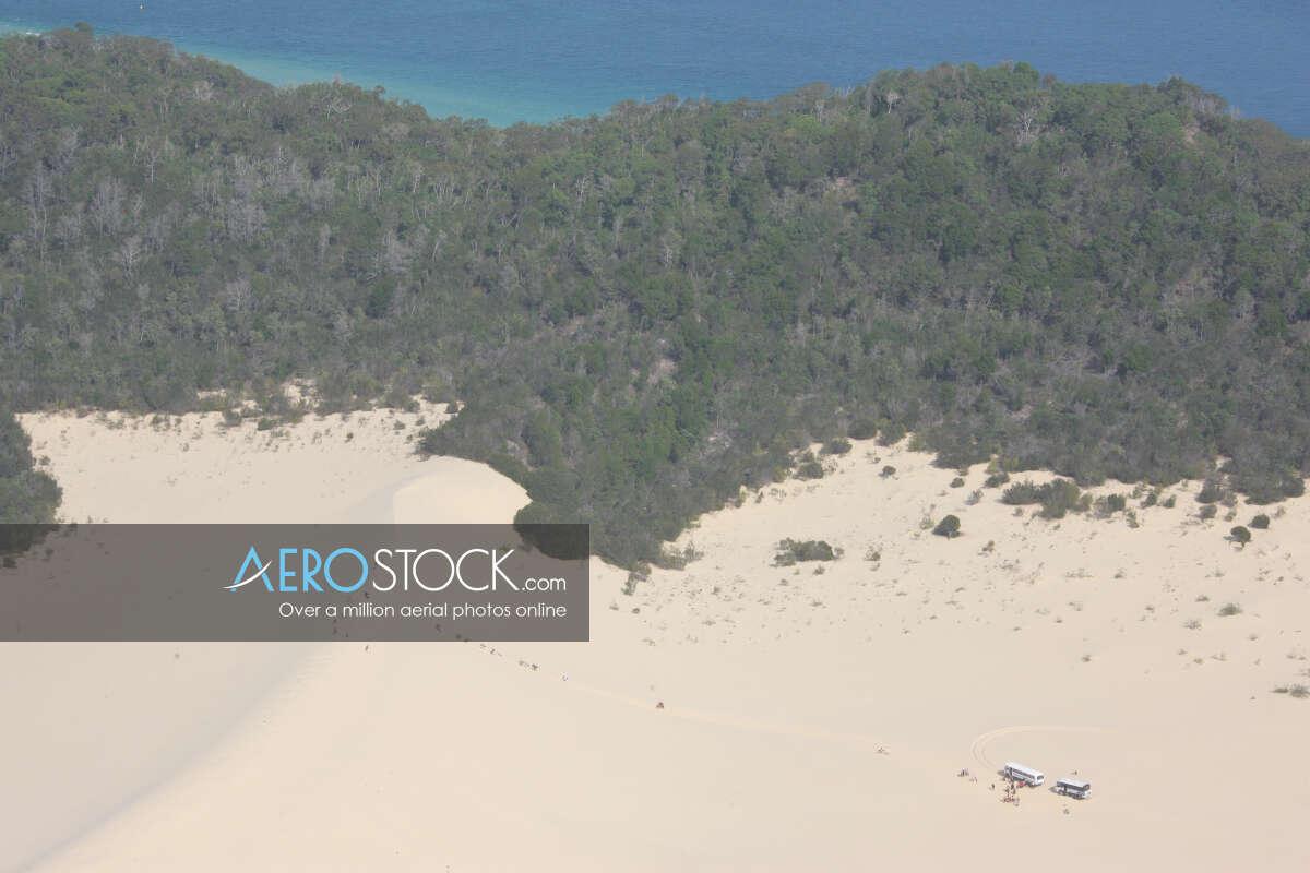 UAV panoramic aerial photo of Moreton Island, 4025, Australia