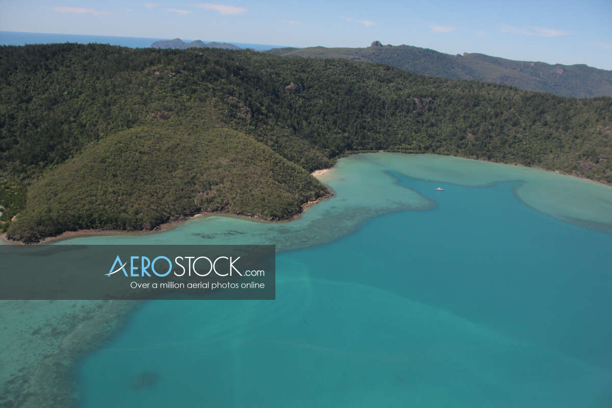 Sky-high picture of Whitsunday, 4802.