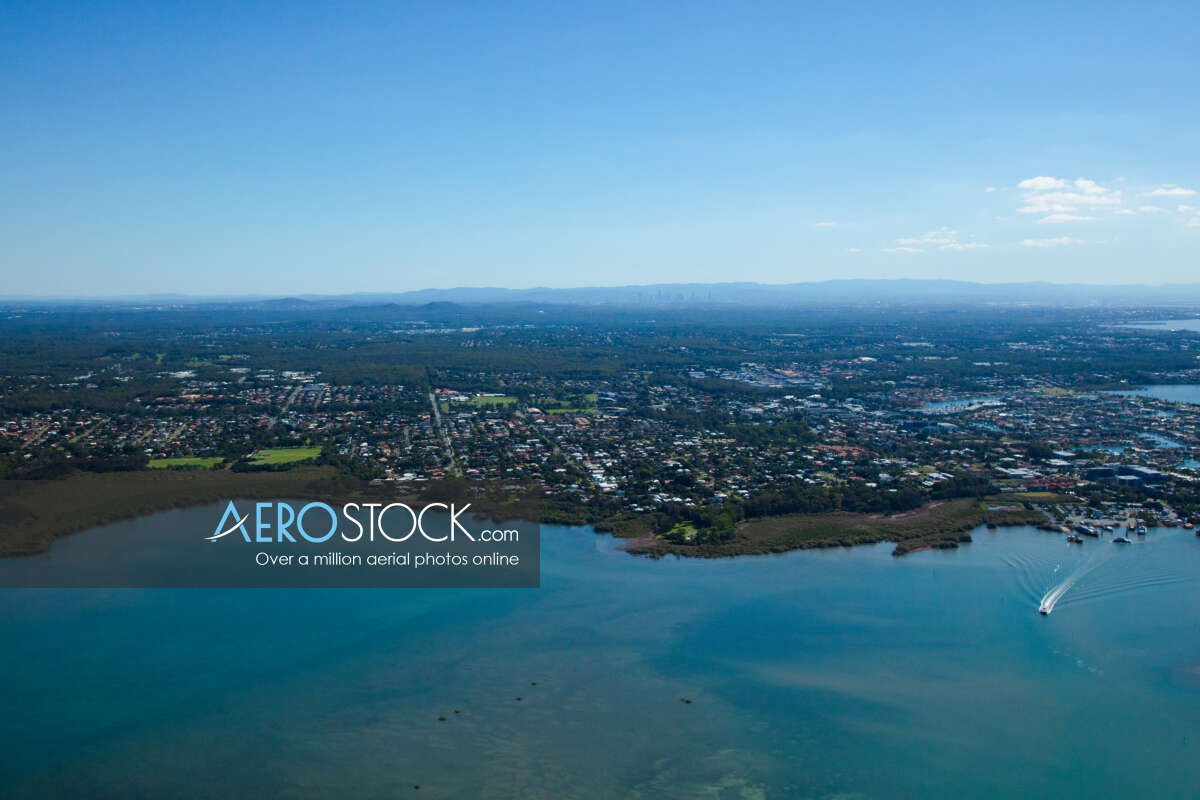 Cost effective image of Peel Island, Queensland.