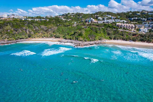 High resolution aerial photo of Coolum Beach, Sunshine Coast