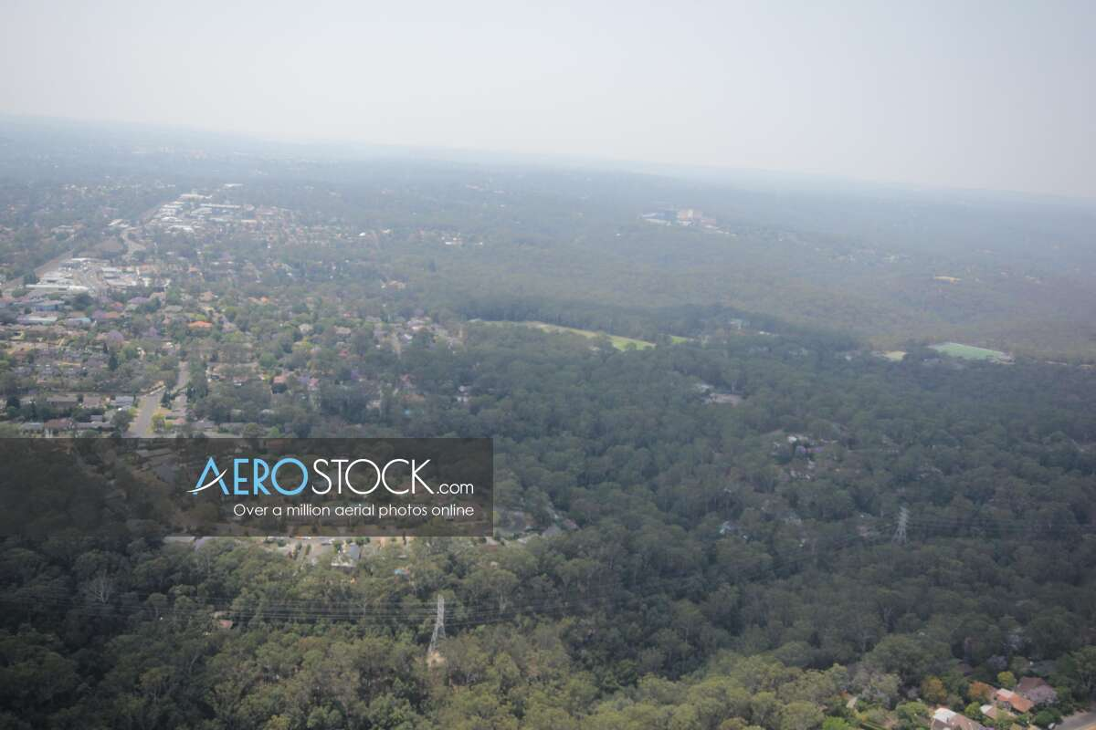 Sharp and finely detailed panoramic aerial photo of Beecroft