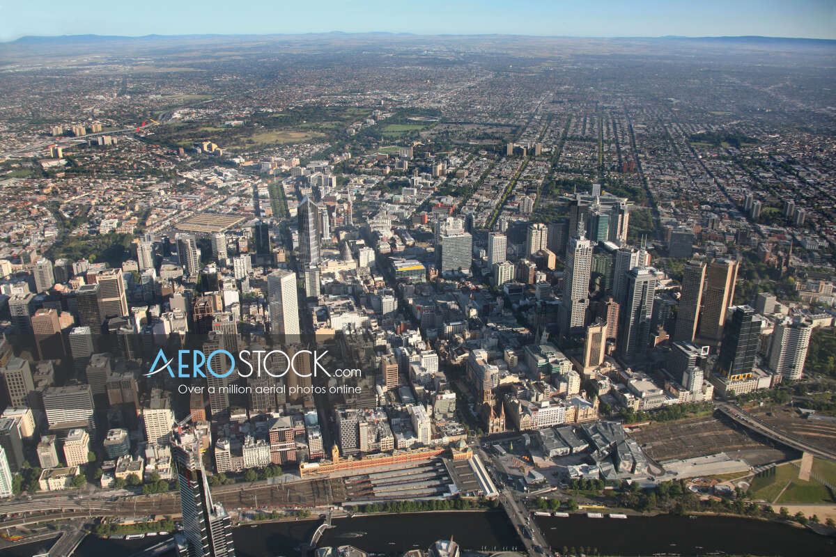 Discounted panoramic aerial photo of Southbank, 3006.