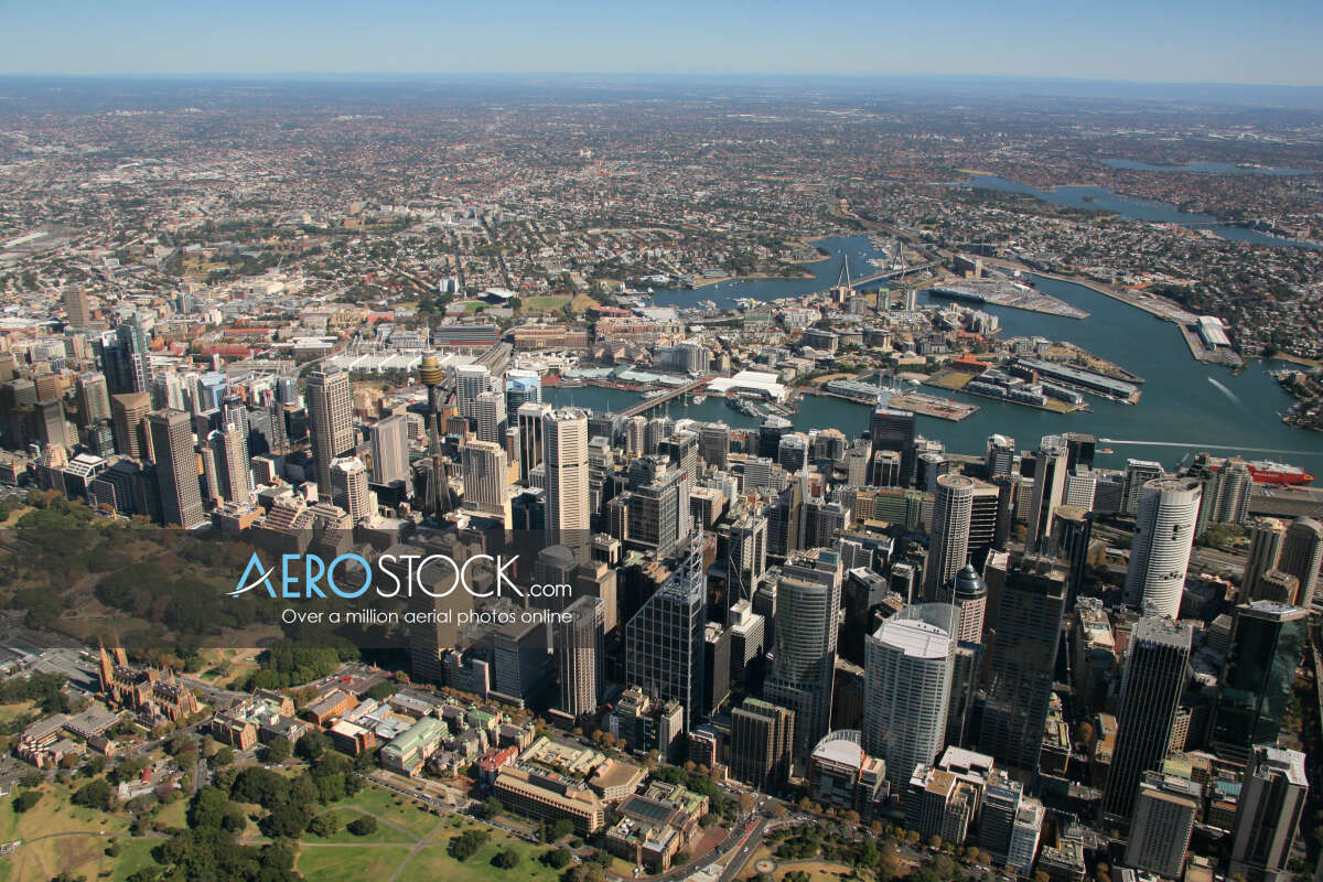 Aircraft snapshot of Sydney, New South Wales.