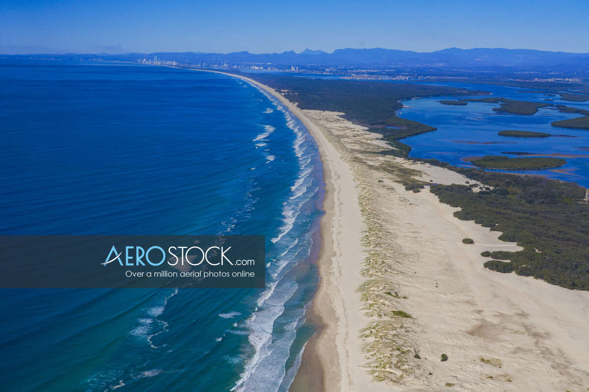 Cost effective stock image of Southern Moreton Bay Islands in Gold Coast.