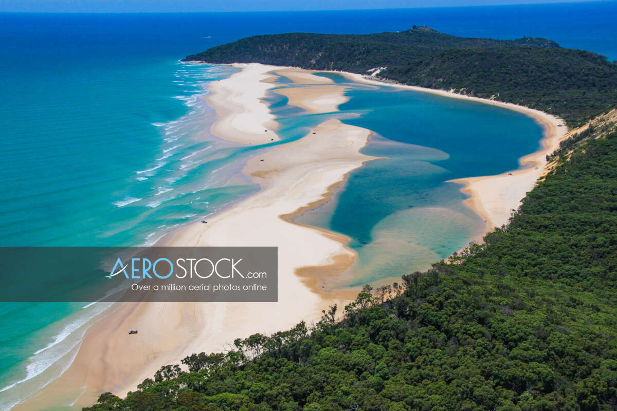Aerial picture of Rainbow Beach