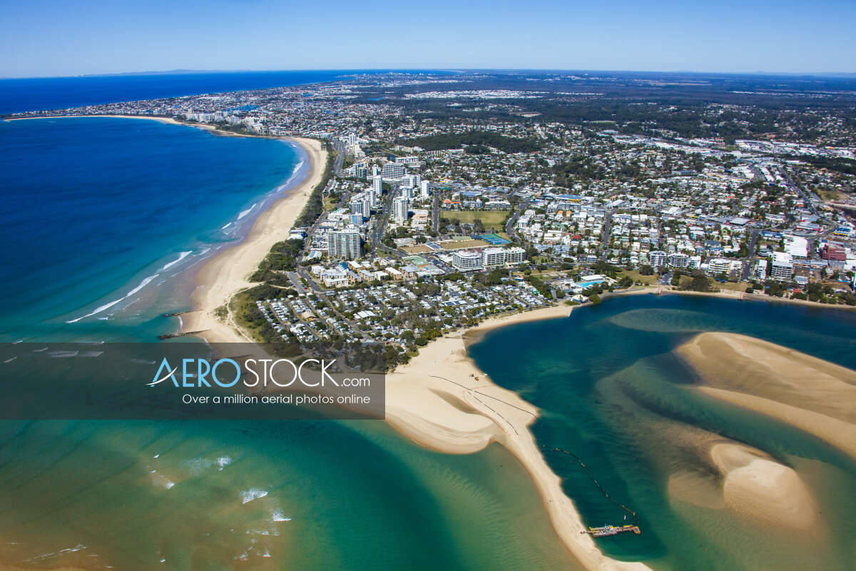 Sky-high stock photo of Sunshine Coast
