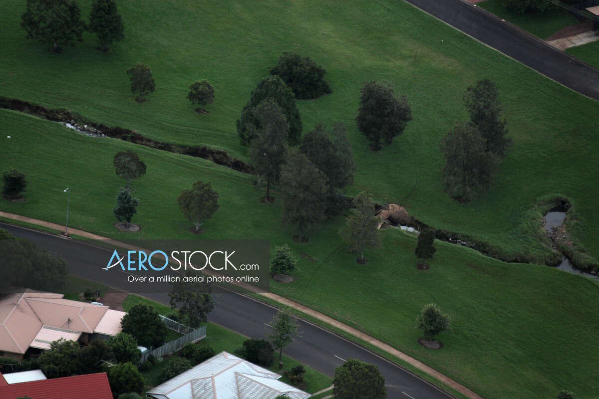UAV image of Middle Ridge, Toowoomba