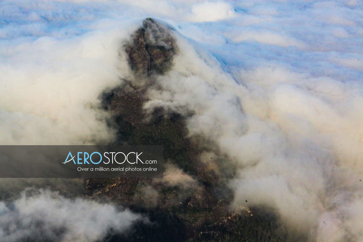 Cost effective stock image of Glass House Mountains in Sunshine Coast.