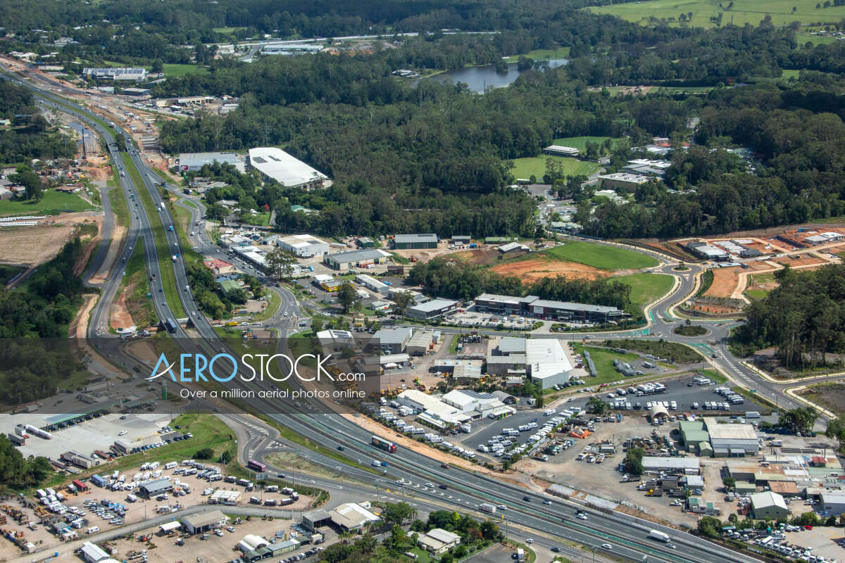 Sharp and finely detailed panoramic aerial photo of Sunshine Coast