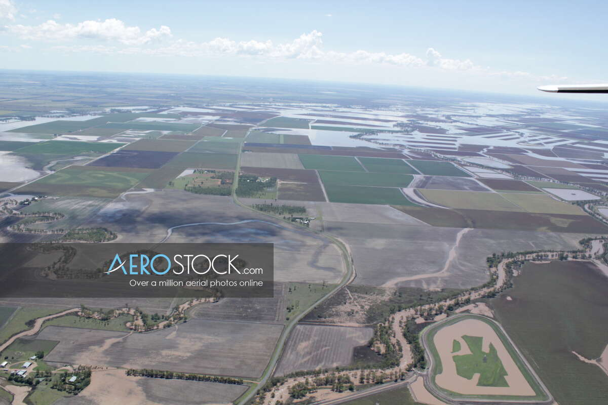 UAV panoramic aerial photo of Tummaville, 4352, Australia