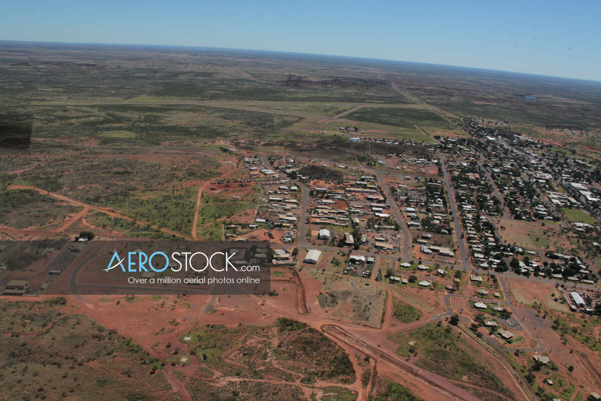 Aerial stock image of Tennant Creek taken on the April 2nd, 2012 11:19.