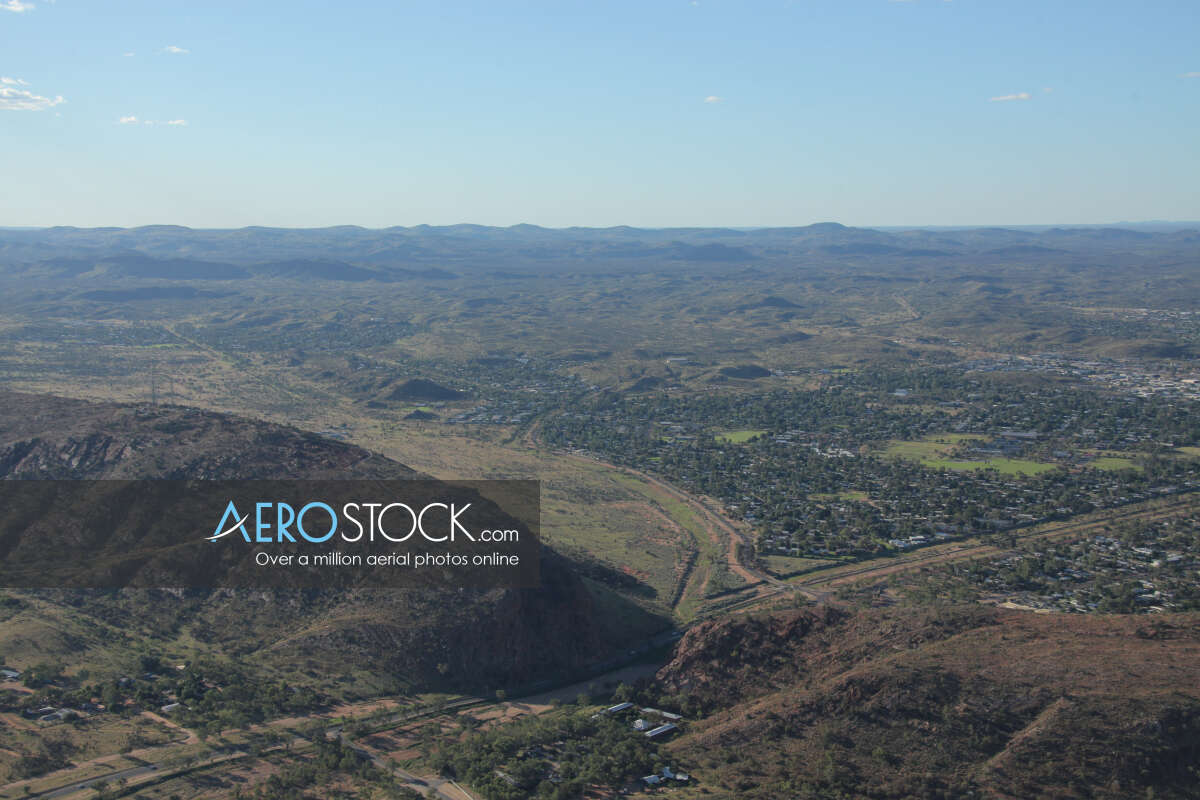 Aircraft snapshot of Alice Springs, Northern Territory.
