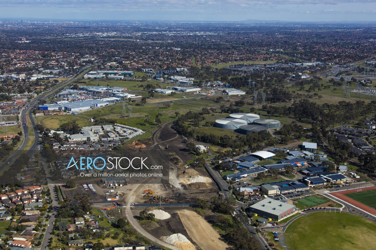 Drone stock image of South Morang taken on the August 9th, 2017 12:11