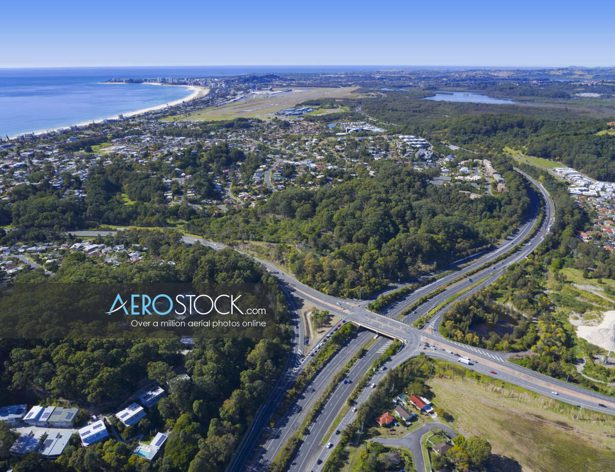 High definition panoramic aerial photo of Currumbin Waters.