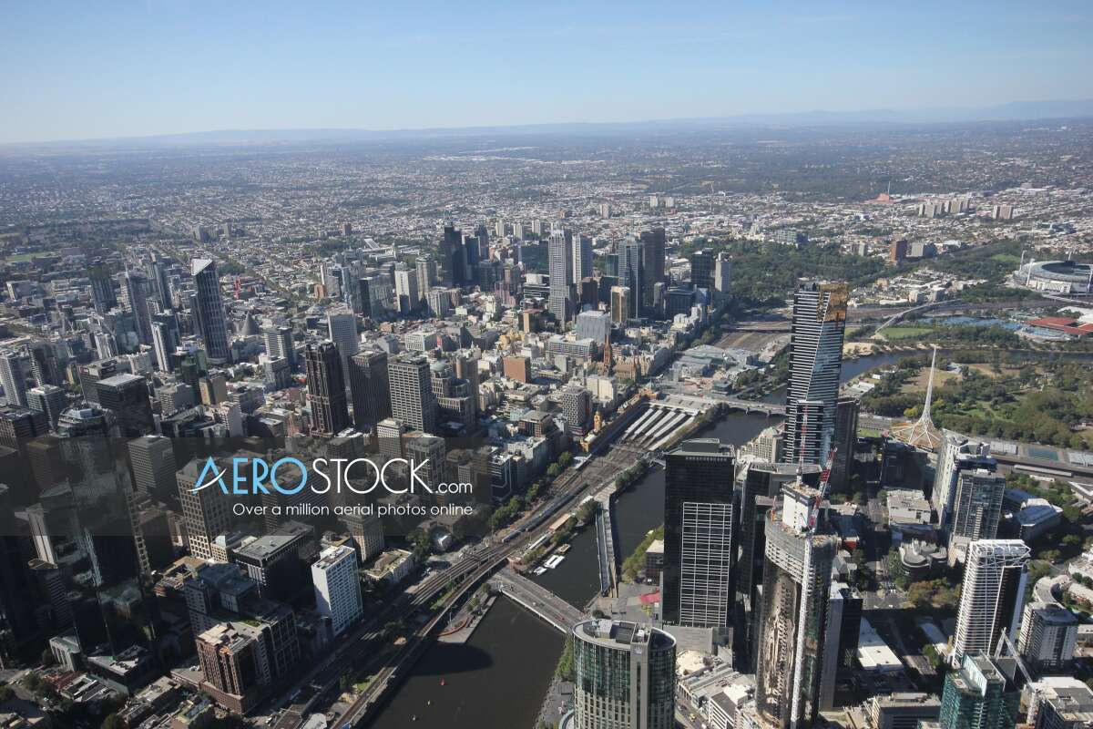 Sky-high picture of Melbourne, 3006