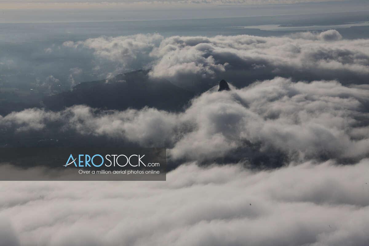 High resolution panoramic aerial photo of Peachester.