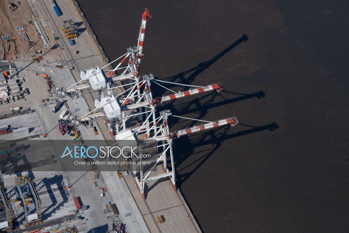 High definition stock photo of Port Of Brisbane, Queensland.