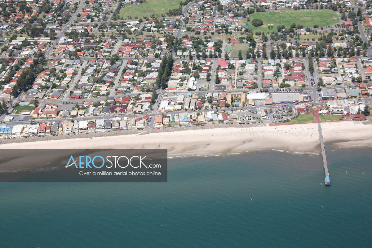 Discounted panoramic aerial photo of Henley Beach, 5022.