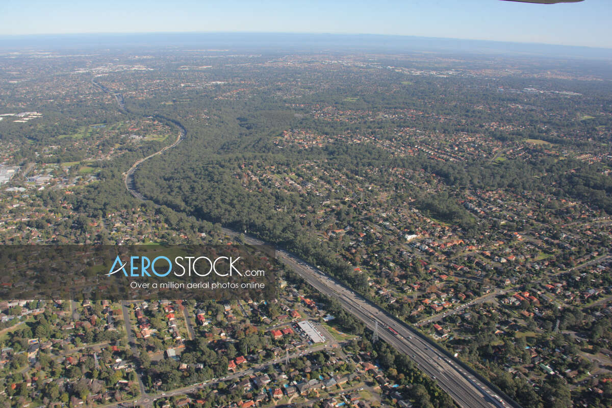 High res image of West Pennant Hills in NSW.