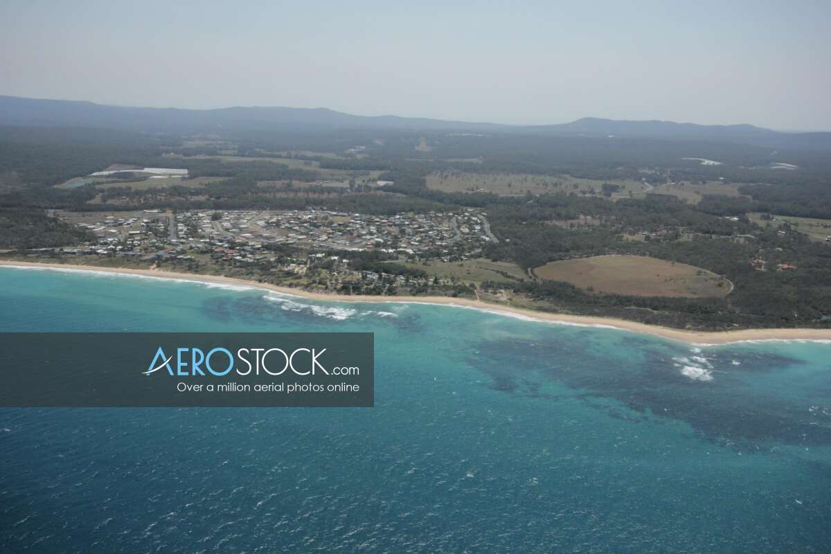 UAV picture of Corindi Beach.