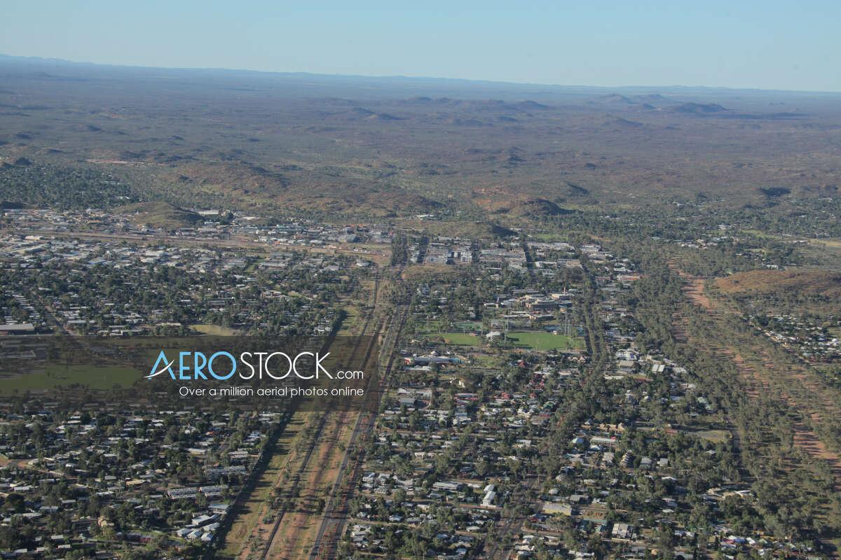 Drone image of Gillen, Alice Springs.