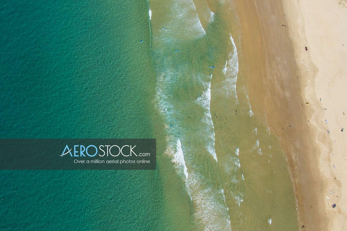 Aerial image of Coolum Beach, Sunshine Coast.