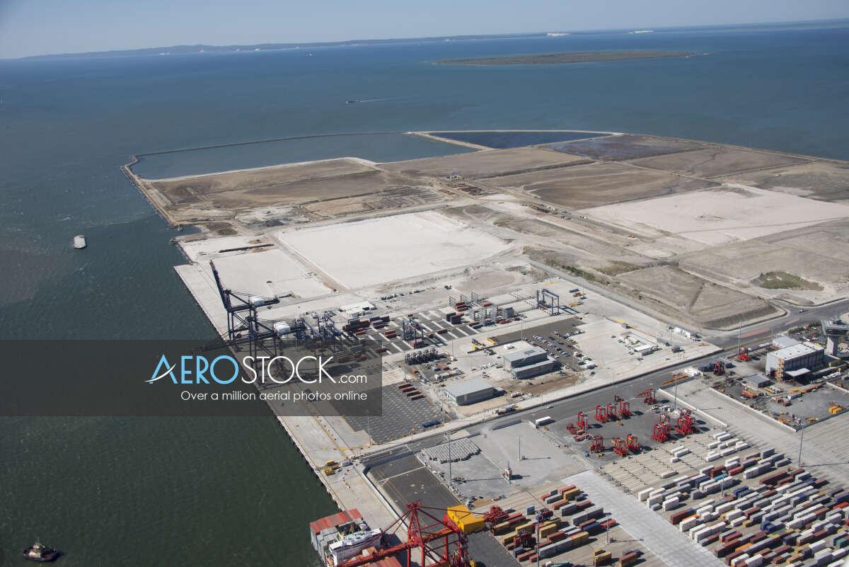 Stock image of Port Of Brisbane.