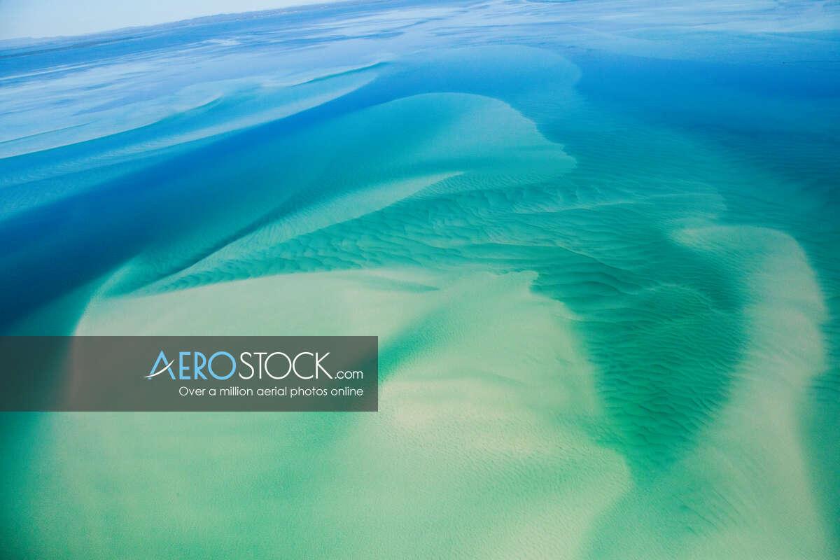 Sky-high panoramic aerial photo of Peel Island, 4184, Australia
