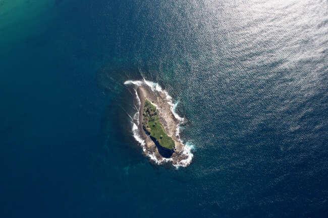 Puzzle Piece in the Ocean