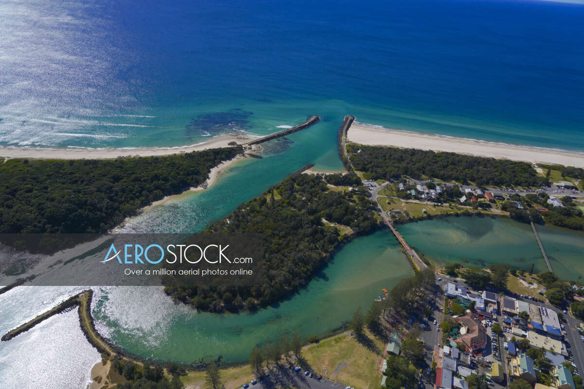 Cost effective imagery of Brunswick Heads, New South Wales