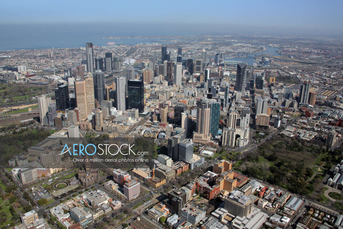 Sky-high photo of Melbourne, 3000