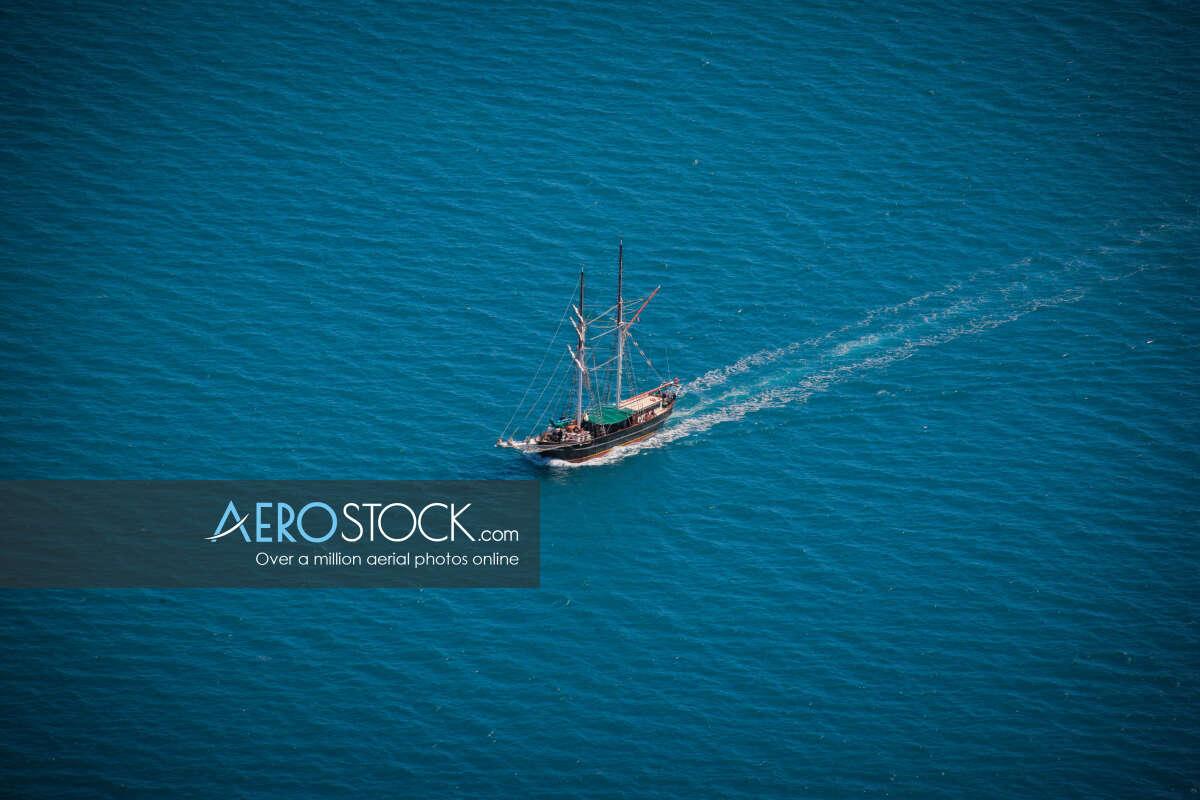 High quality panoramic aerial photo of Whitsundays.
