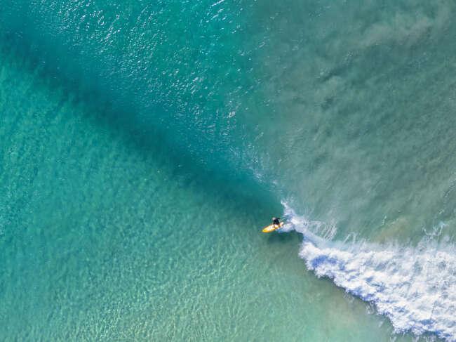Aerial Surfing Photo