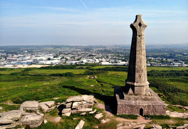 Bassett Monument 2,  Carn Brea Cornwall UK.
