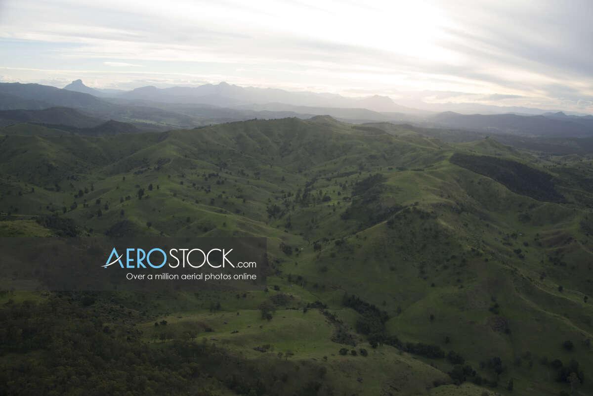 Panoramic aerial photo of Scenic Rim taken on April 13th, 2013 16:47