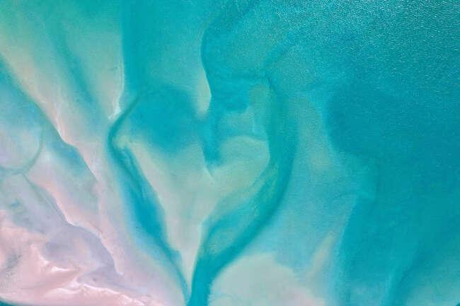 Shades of pink and love heart sandbanks in the Arafura Sea NT