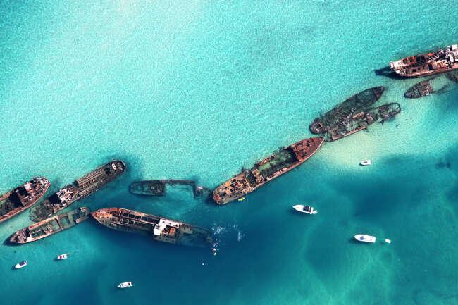 Tangalooma Wrecks, Moreton Island QLD