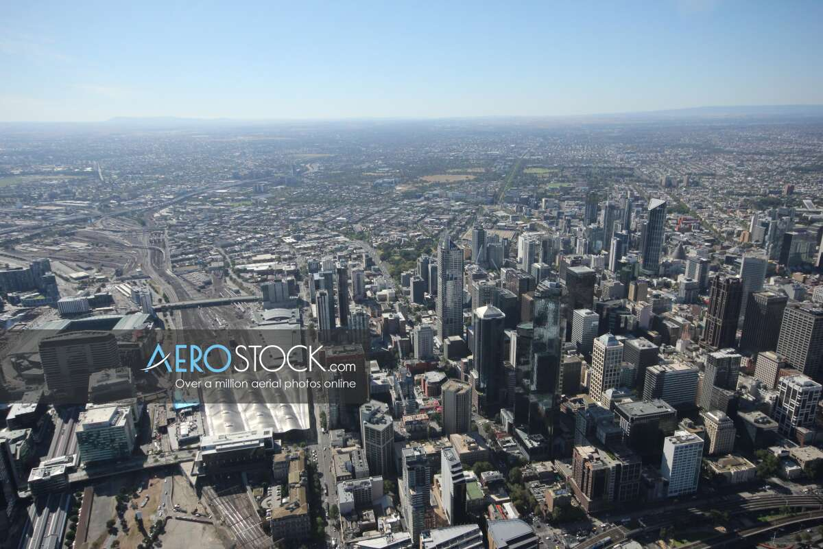 Drone image of Melbourne taken on the March 20th, 2014 14:47