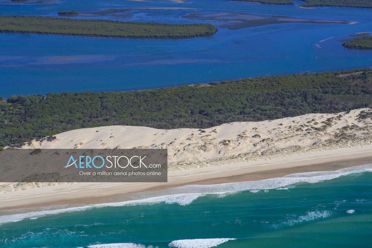 Cost effective image of South Stradbroke, Queensland.