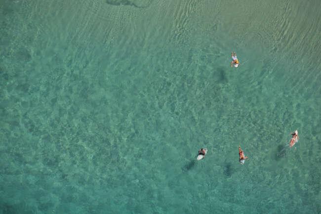 Surfing at Noosa
