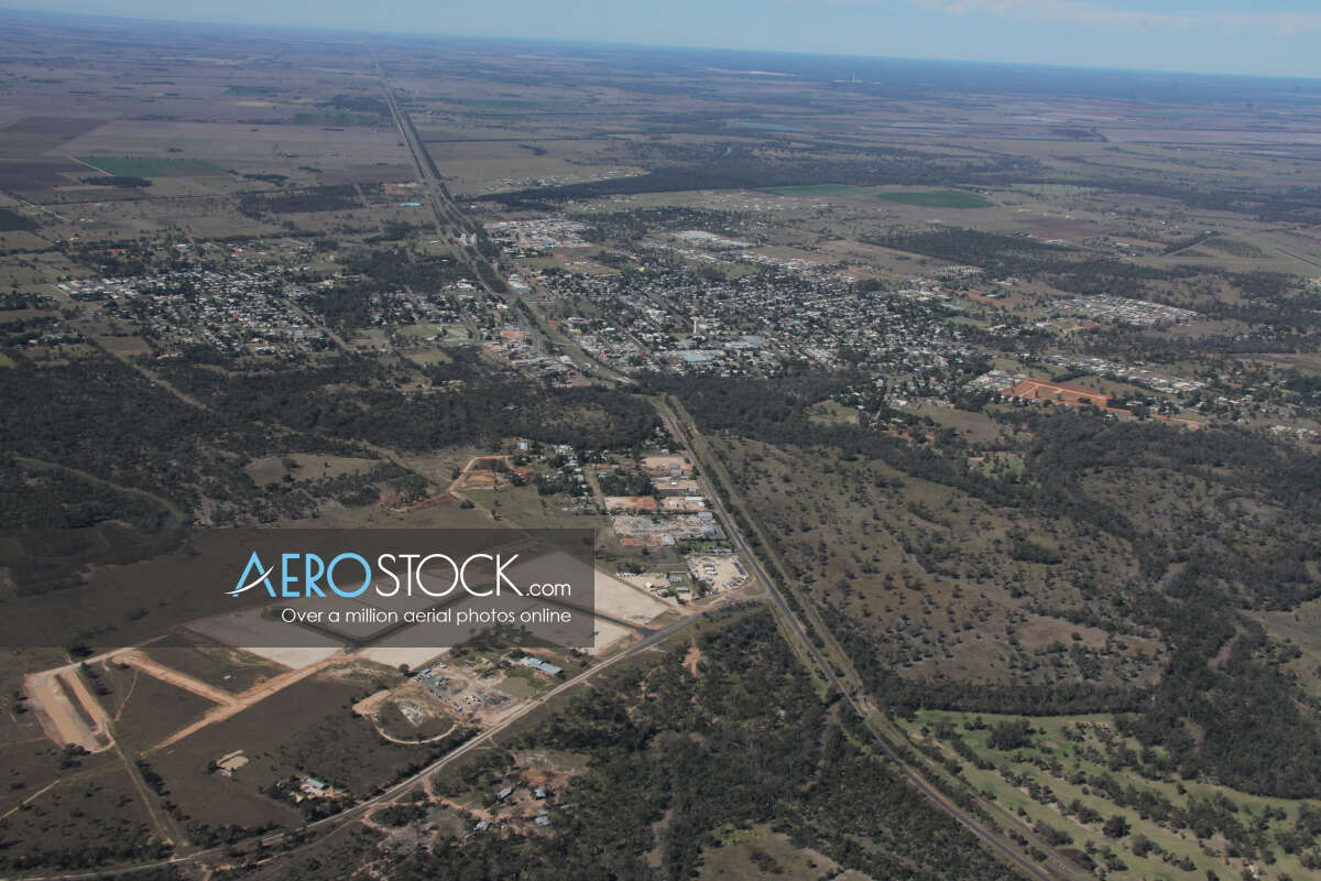 Panoramic aerial photo of Western Downs taken on May 5th, 2012 11:22