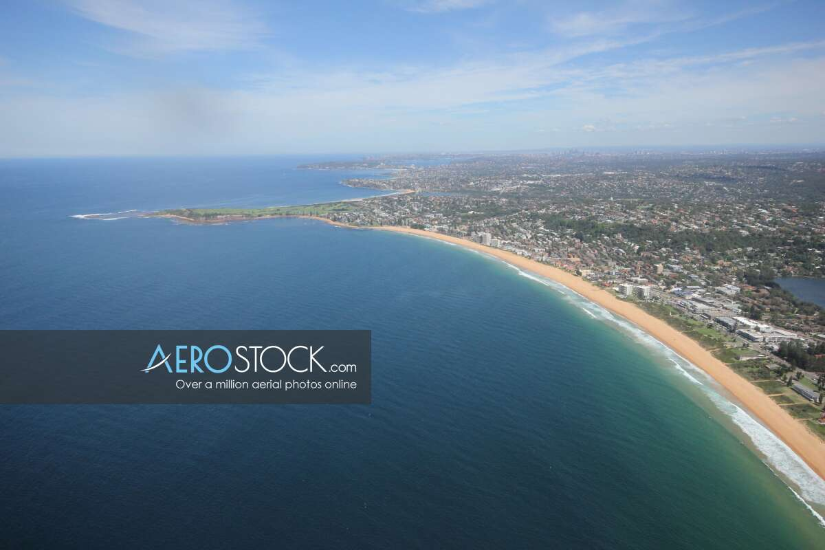Aerial pic of Northern Beaches, NSW