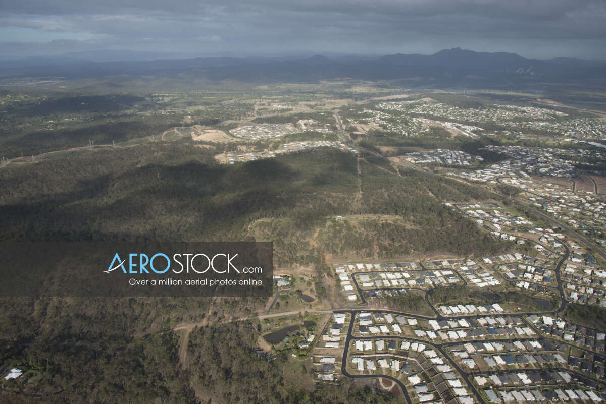 High res panoramic aerial photo of Gladstone