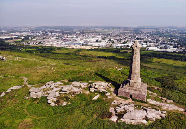 Bassett Monument  Carn Brea Cornwall UK.