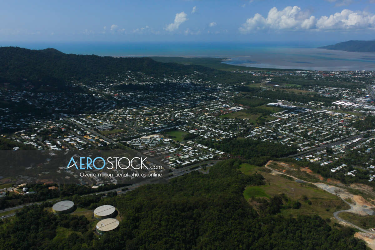 Panoramic aerial photo of Cairns taken on August 28th, 2012 13:53