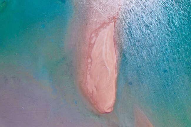 Pink & oxidised island, Wessel Islands, Arafura Sea NT