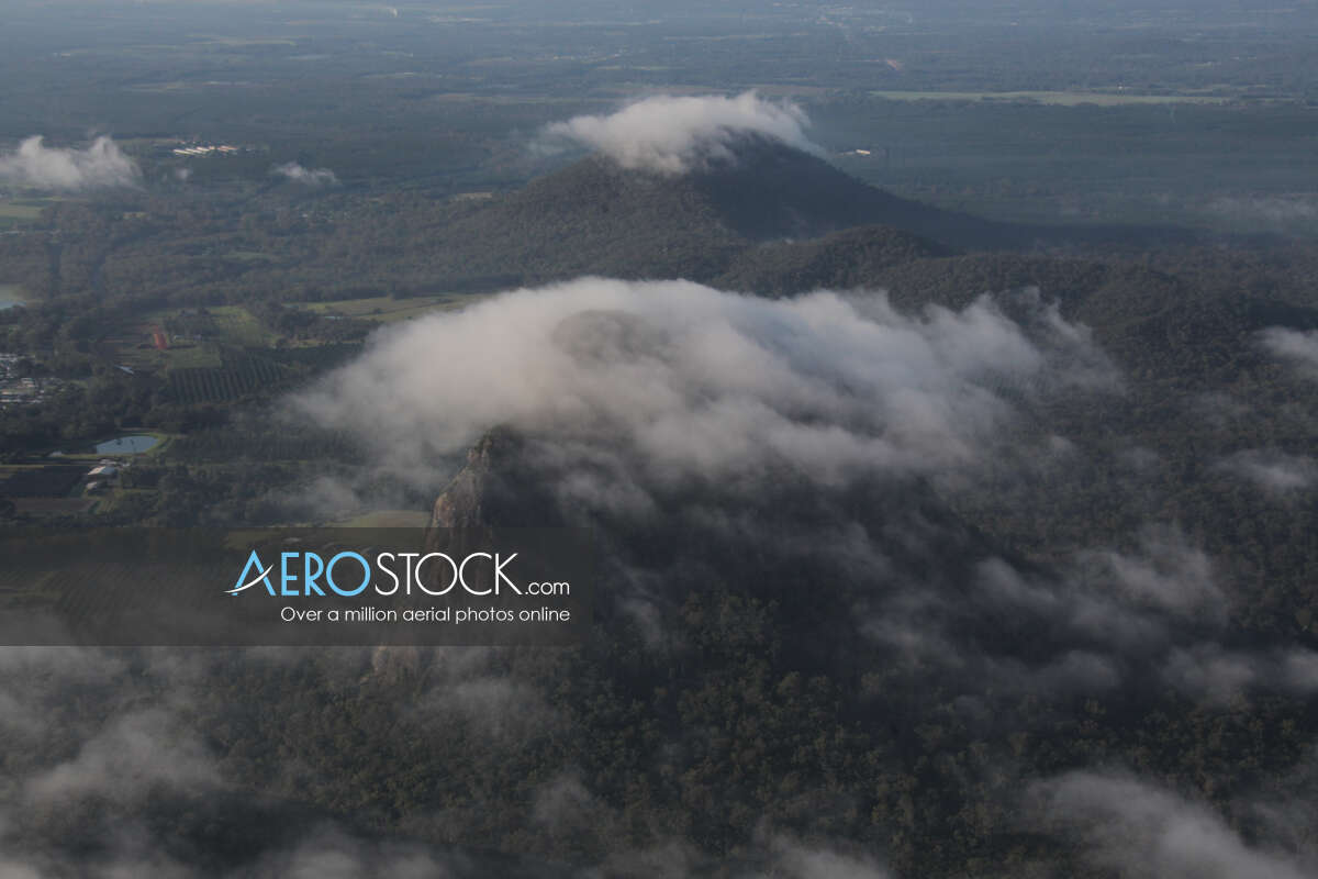 Stunning pic of Glass House Mountains, Lat -26.908382 Long 152.944225.