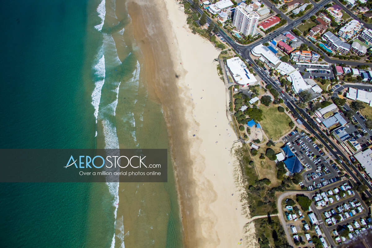 Aerial image of Coolum Beach in the Sunshine Coast QLD