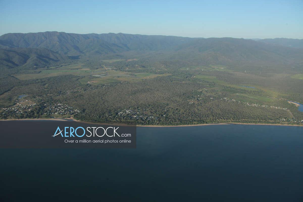 Discounted panoramic aerial photo of Balgal Beach, 4816.
