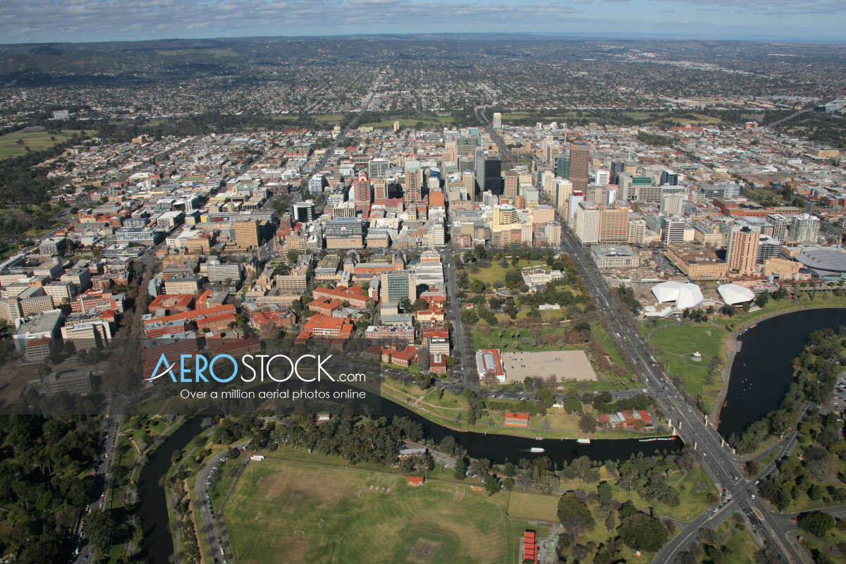 Drone image of North Adelaide, Adelaide Plains